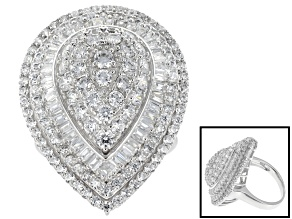 Cubic Zirconia Silver Ring 5.71ctw