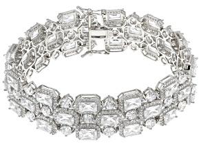 Cubic Zirconia Silver Bracelet 54.40ctw