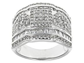 Cubic Zirconia Silver Ring 2.30ctw