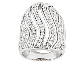 Cubic Zirconia Silver Ring 2.46ctw (1.60ctw DEW)