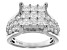 White Cubic Zirconia Sterling Silver Ring 4.45ctw