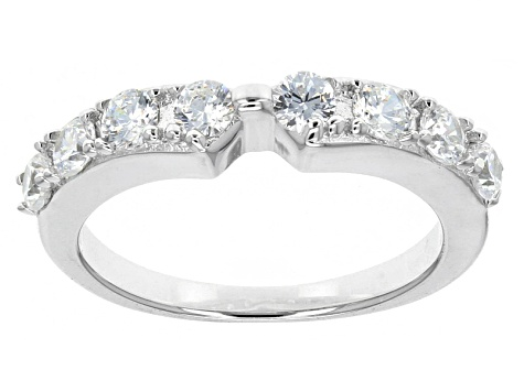 Cubic Zirconia Silver Ring With Bands 6.90ctw (4.40ctw DEW)