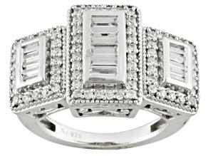 Cubic Zirconia Silver Ring 2.20ctw (1.40ctw DEW)