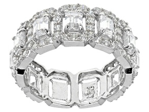 Cubic Zirconia Silver Ring 7.48ctw (3.52ctw DEW)