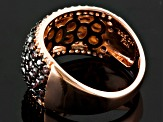 Brown And White Cubic Zirconia 18k Rose Gold Over Silver Ring 2.70ctw