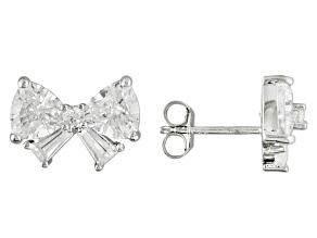 White Cubic Zirconia Sterling Silver Earrings 6.00ctw