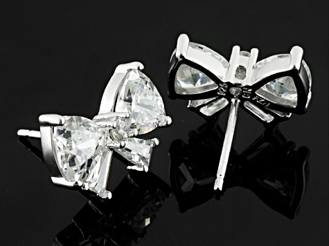 White Cubic Zirconia Rhodium Over Sterling Silver Earrings 6.00ctw