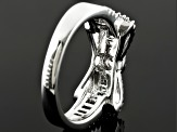 White Cubic Zirconia Sterling Silver Ring 1.30ctw