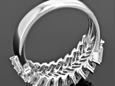 Cubic Zirconia Rhodium Over Sterling Silver Ring 3.11ctw