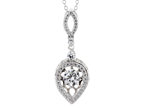 White Cubic Zirconia Sterling Silver Pendant 2.41ctw