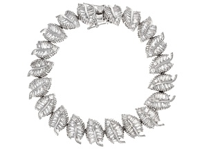Cubic Zirconia Rhodium Over Sterling Silver Bracelet 19.00ctw