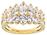 Cubic Zirconia 18K Yellow Gold Over Sterling Silver Ring 5.85ctw (3.27ctw DEW)