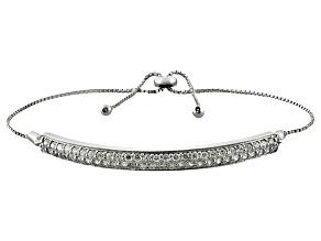 Cubic zirconia silver adjustable bracelet 2.48ctw (1.37ctw DEW)