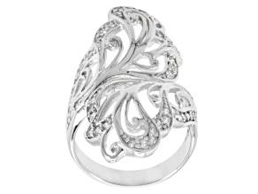 Cubic Zirconia Silver Ring 1.00ctw (.57ctw DEW)