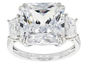 Cubic Zirconia Silver Ring 15.05ctw