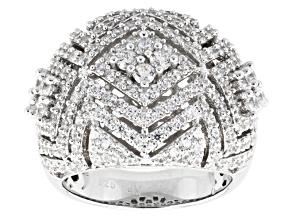 Cubic Zirconia Silver Ring 3.45ctw (2.30ctw DEW)
