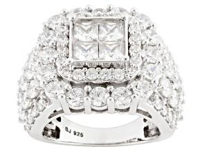 Cubic Zirconia Silver Ring 10.06ctw (5.32ctw DEW)