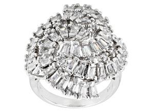 Cubic Zirconia Silver Ring 5.15ctw (2.85ctw DEW)