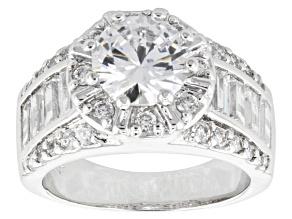 Cubic Zirconia Silver Ring 5.92ctw (3.74ctw DEW)