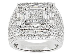 Cubic Zirconia Silver Ring 6.97ctw (2.97ctw DEW)
