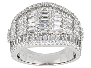 Cubic Zirconia Silver Ring 5.76ctw (3.75ctw DEW)