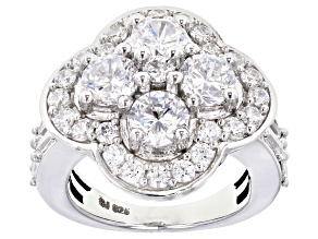 Cubic Zirconia Silver Ring 5.89ctw (3.10ctw DEW)