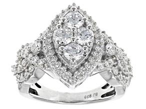 Cubic Zirconia Silver Ring 4.00ctw  (2.17ctw DEW)