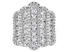 Cubic Zirconia Silver Ring 5.70ctw (2.24ctw DEW)