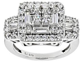 Cubic Zirconia Silver Ring 4.25ctw (2.38ctw DEW)