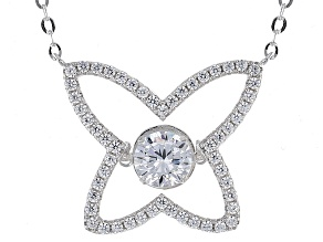White Cubic Zirconia Sterling Silver Necklace 2.56ctw