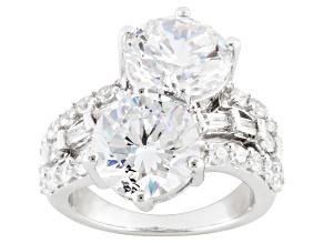 Cubic Zirconia Silver Ring 15.43ctw (8.68ctw DEW)