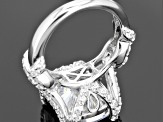 Cubic Zirconia Rhodium Over Sterling Silver Ring 11.10ctw