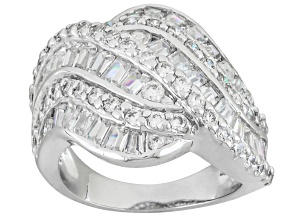 Cubic Zirconia Silver Ring 4.75ctw (1.85ctw DEW)
