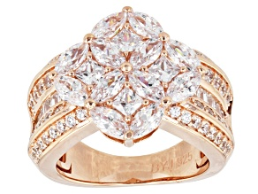 Cubic Zirconia 18k Rose Gold Over Sterling Silver 5.17ctw (3.10ctw DEW)