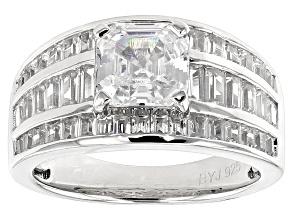 Cubic Zirconia Silver Ring 5.69ctw (3.63ctw DEW)
