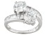 Cubic Zirconia Sterling Silver Ring 6.12ctw