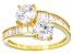 Cubic Zirconia 18k Yellow Gold Over Sterling Silver Ring 6.12ctw