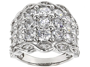 Cubic Zirconia Sterling Silver Ring 7.30ctw