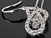 White Cubic Zirconia Sterling Silver Earrings 2.55ctw