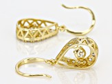White Cubic Zirconia 18k Yellow Gold Over Sterling Silver Earrings 2.55ctw