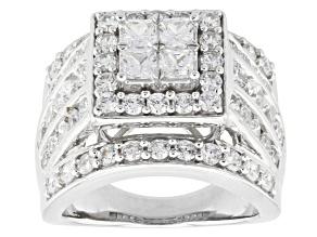Cubic Zirconia Silver Ring 6.60ctw (3.34ctw DEW)