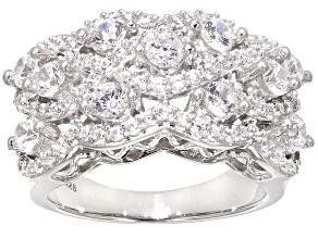 Cubic Zirconia Silver Ring 3.60ctw (2.19ctw DEW)