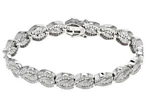 Cubic Zirconia Rhodium Over Sterling Silver Bracelet 13.76ctw