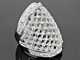 Cubic Zirconia Rhodium Over Sterling Silver Ring 3.13ctw