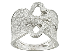 Cubic Zirconia Sterling Silver Ring 1.42ctw
