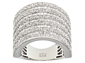 Cubic Zirconia Silver Ring 7.75ctw (4.16ctw DEW)