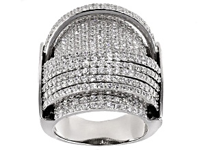 cubic zirconia rhodium over sterling silver ring 4.06ctw