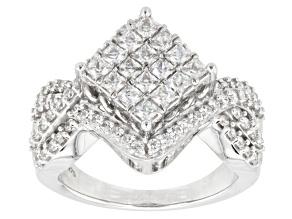Cubic Zirconia Silver Ring 2.59ctw (1.64ctw DEW)