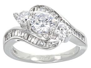 Cubic Zirconia Silver Ring 3.15ctw (1.94ctw DEW)