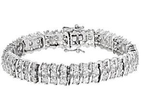 Cubic Zirconia Silver Bracelet 24.80ctw (13.75ctw DEW)